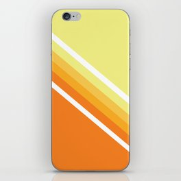 Retro Orange n' Yellow Lines iPhone Skin