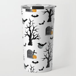 Haunted Graveyard Forest Travel Mug
