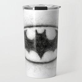 Bat Symbol Black & White Travel Mug
