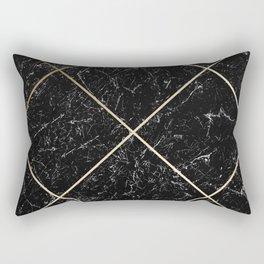Gold & Black Marble 01 Rectangular Pillow