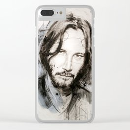 Sad Keanu Clear iPhone Case