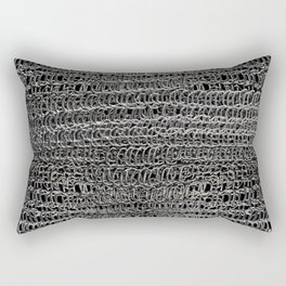 Silver Chain Maille Rectangular Pillow