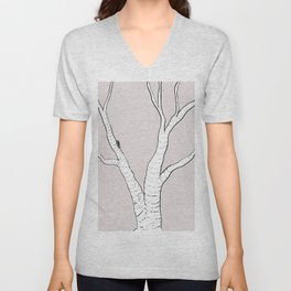 Birch Tree Illustration Unisex V-Neck