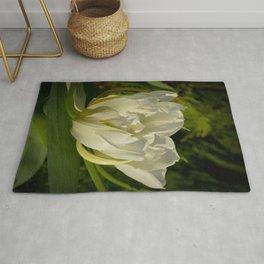 Double White Tulip by Teresa Thompson Rug