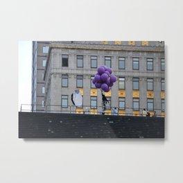 Purple balloon Metal Print