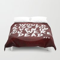 shaun of the dead Duvet Covers featuring Dead by luovia malleja