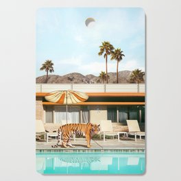 Pool Party Tiger Cutting Board