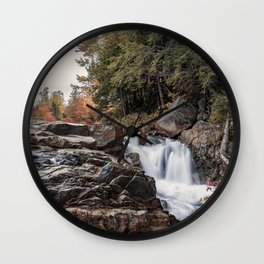 Waterfall at Rocky Gorge Wall Clock