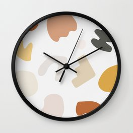 Shape Study #14 - Autumn Wall Clock
