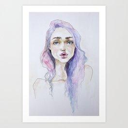 Lavender baby Art Print