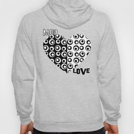Mod Love Black/White Dots Circles Hoody