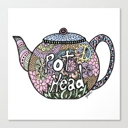 Tea Pot Head Canvas Print