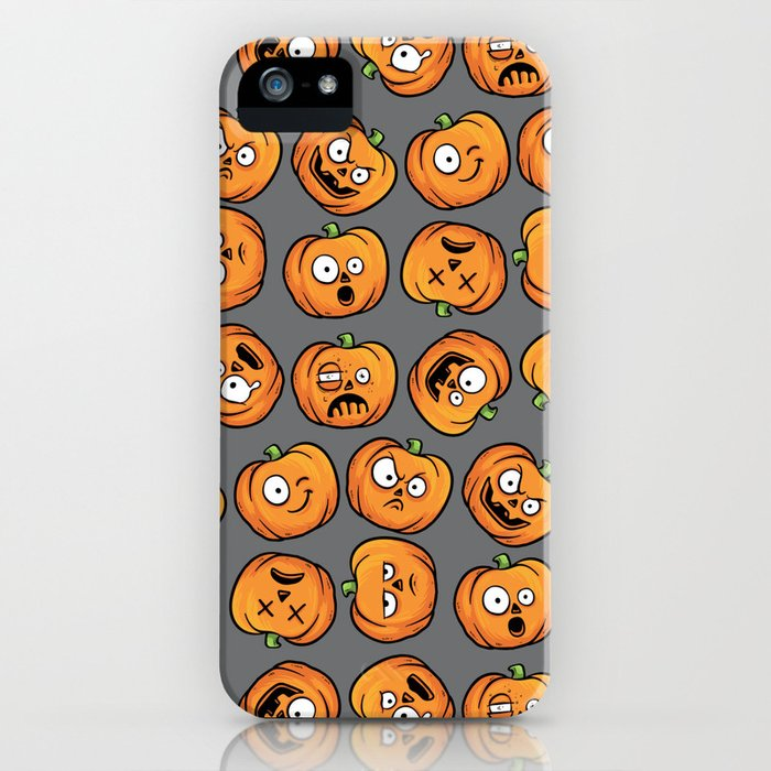 Cute Funny Faces Halloween Pumpkins Iphone Case By Holidayswagg