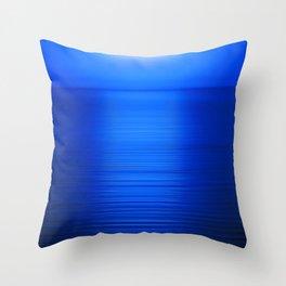 Sunset on the Water-Deep Blue Throw Pillow