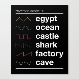 Know your Waveforms Canvas Print