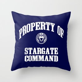 Property of Stargate Command Athletic Wear White ink Throw Pillow
