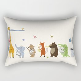 little parade Rectangular Pillow