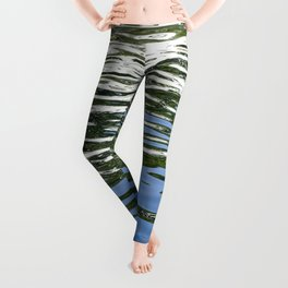 Colorful Reflections Abstract Leggings