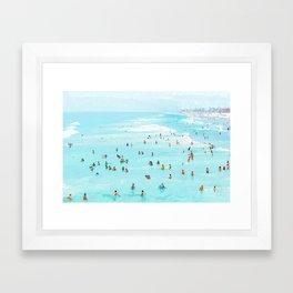 Hot Summer Day #painting #illustration Framed Art Print