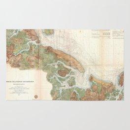 Vintage Map of Ipswich and Annisquam Harbor (1857) Rug