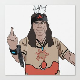 Mato at Standing Rock Canvas Print