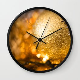 Golden Cheer III Wall Clock