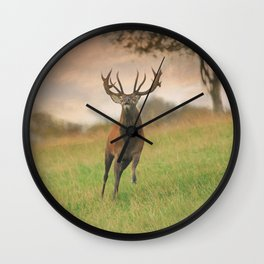 Charging Stag Wall Clock