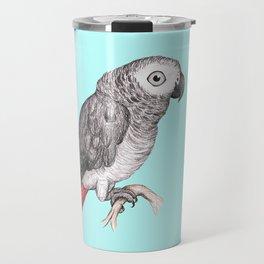 Cute African grey parrot Travel Mug