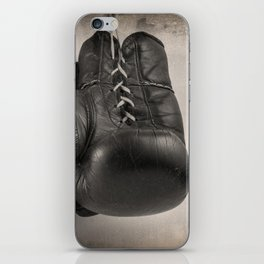 Boxing Gloves black and white iPhone Skin