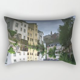 Reflections in Luxembourg City Rectangular Pillow