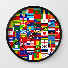Flag Montage Wall Clock
