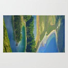 Colorful lake Rug