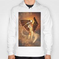 angel wings Hoodies featuring Angel by nicky2342