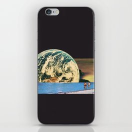 Distant beach iPhone Skin