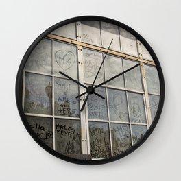 Window Art Work Wall Clock