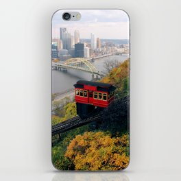 An Autumn Day on the Duquesne Incline in Pittsburgh, Pennsylvania iPhone Skin