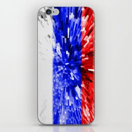 Extruded Flag of Russia iPhone Skin