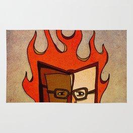 Prophets of Fiction - Ray Bradbury /Fahrenheit 451 Rug