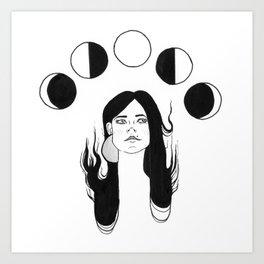 Moon Daze Art Print