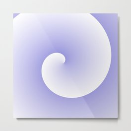 Wave, in white and purple Metal Print