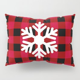 Red Buffalo Check - snowflake - more colors Pillow Sham
