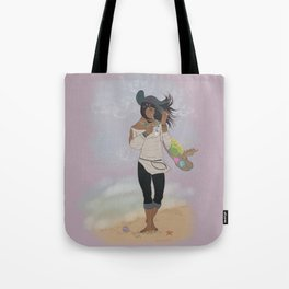 Sea Witch on the Beach Tote Bag