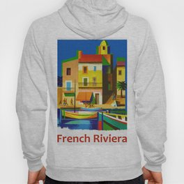 Vintage French Riviera Travel Ad Hoody
