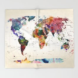 map Throw Blanket