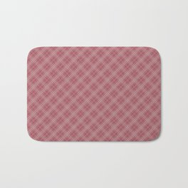 Christmas Rose Velvet Tartan Check Plaid Bath Mat