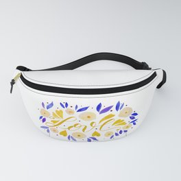 Love and flowers - yellow and purple Fanny Pack