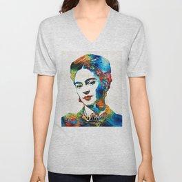 Frida Kahlo Art - Viva La Frida - By Sharon Cummings Unisex V-Neck