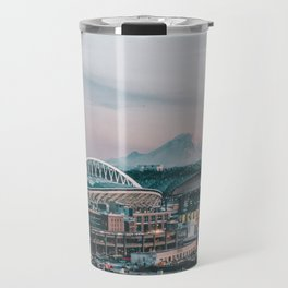 Seattle & Mount Rainier Travel Mug
