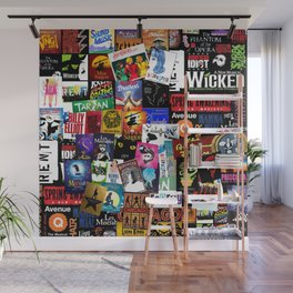 Musicals Collage Wall Mural