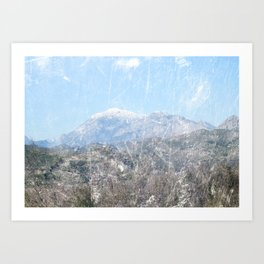 Snow-capped Mountains Art Print
